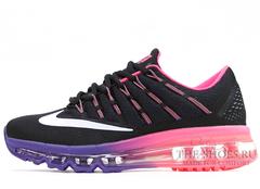 Кроссовки Женские Nike Air Max 2016 Black Violet Pink