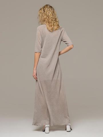 Женское платье макси песочного цвета - фото 2