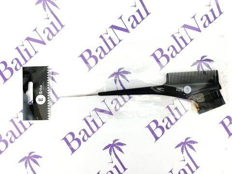 Erika Кисть для окрашивания волос, Длина 21 см., Ширина 3,5 см., с расчёской и крючком