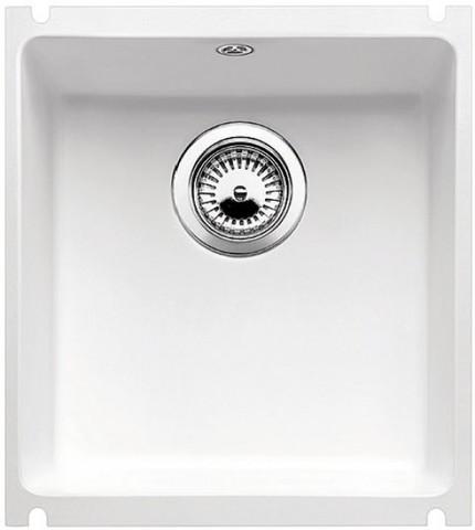 Кухонная мойка Blanco SUBLINE 375-U, отв.арм. InFino®, глянцевый белый