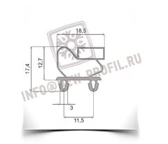 Уплотнитель 139*65,5 см для холодильного шкафа Polair ШХ-0,5 ДСУН (BC105-P) Профиль 011