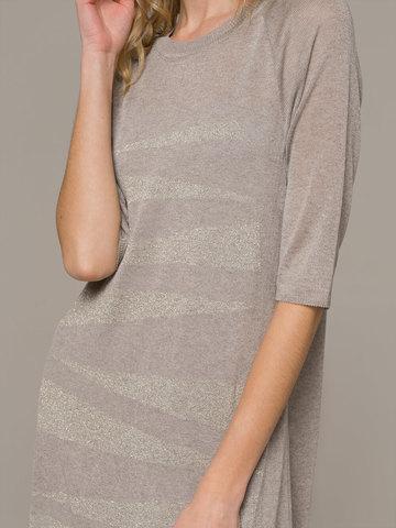 Женское платье макси песочного цвета - фото 4