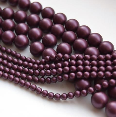 Жемчуг 2 мм Сваровски Elderberry