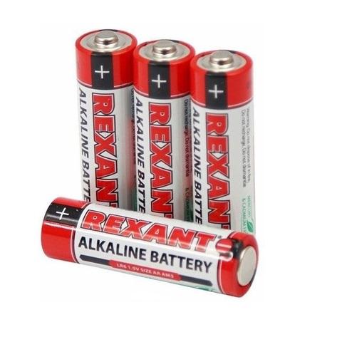 Батарейки пальчиковые Rexant АА/LR6 (блистер 4 шт.)