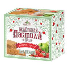 Белевская пастила яблочная с клубникой (без сахара) 125 г