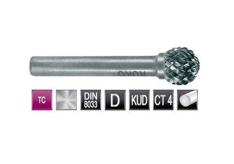 Бор-фреза Ruko твердосплавная D(KUD) 3,0х2,7мм S=3мм 116052