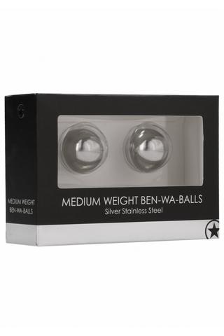 Металлические вагинальные шарики Medium Weight Ben-Wa-Balls Ouch!