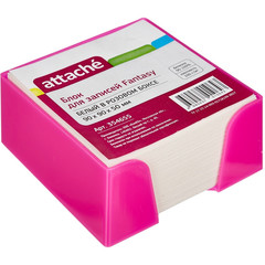 Блок-кубик ATTACHE Fantasy 9х9х5 стакан розовый белый блок