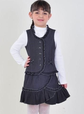 Лидер Комплект школьный для девочки л1659 серый