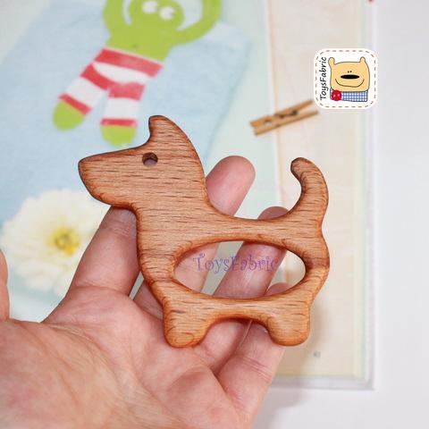 Грызунок деревянный (бук) 8х7,5см Собака ГР22