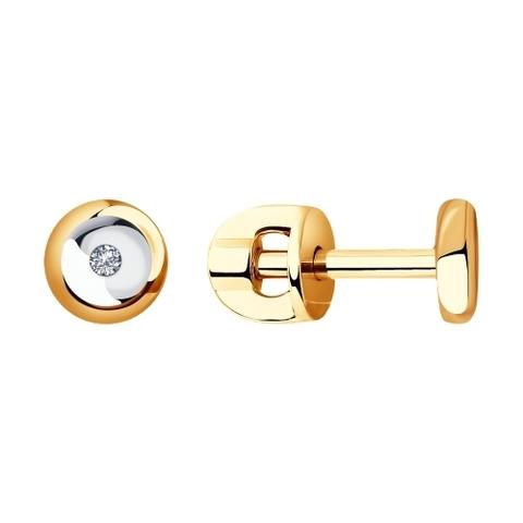 Серьги-пусеты из золота с бриллиантами арт. 1021382