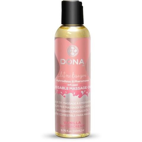 Массажное масло Dona со вкусом ванильного крема