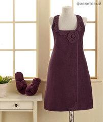 Набор женский для сауны 3 предмета  IRIS  фиолетовый Soft cotton Турция