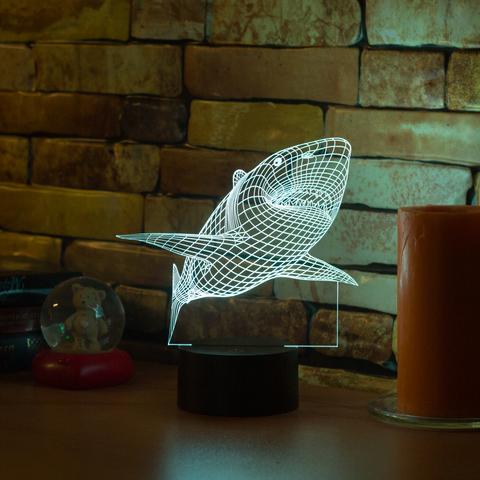 3D лампа Акула