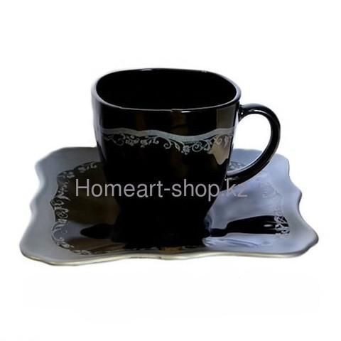 LUMİNARC AUTHENTİC SİLVER BLACK Чайный сервиз, 220 мл, 12 пр.