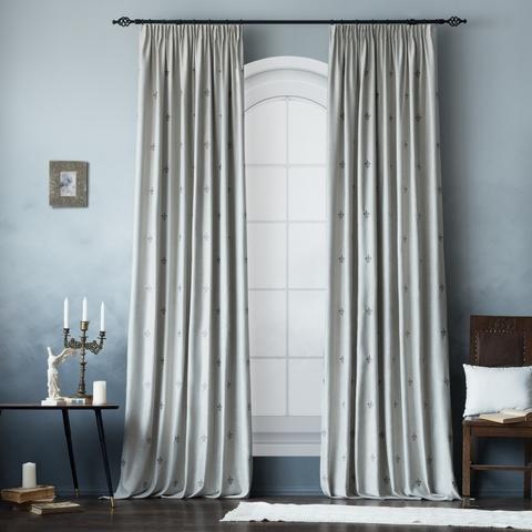 Комплект штор с подхватами Ливьера серый