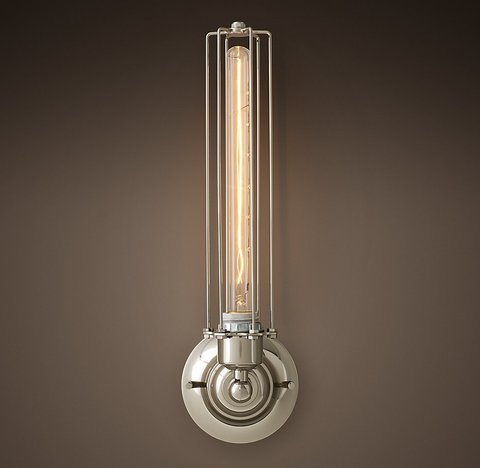 Edison Caged Tall Sconce