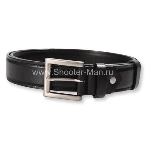 Ремень кожаный, пистолетный усиленный до регулировочных отверстий ( 35 мм )