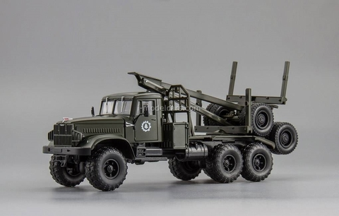 KRAZ-255L timber carrier (6x6) 1969 khaki 1:43 Nash Avtoprom