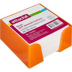 Блок-кубик ATTACHE Fantasy 9х9х5 стакан оранжевый белый блок