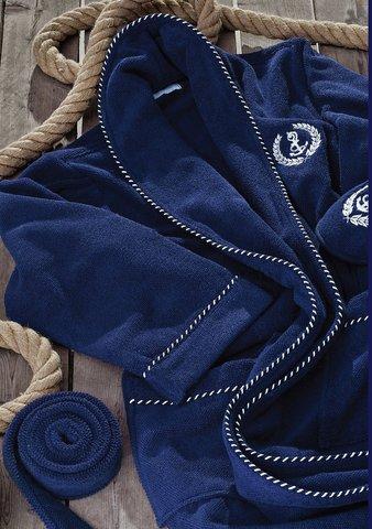 MICHEL SAILING  МИШЕЛЬ САЙЛИНГ махровый мужской  халат с тапочками  Maison Dor Турция