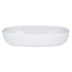 Блюдо для запекания 28х18см Linear овальное белое Mason Cash