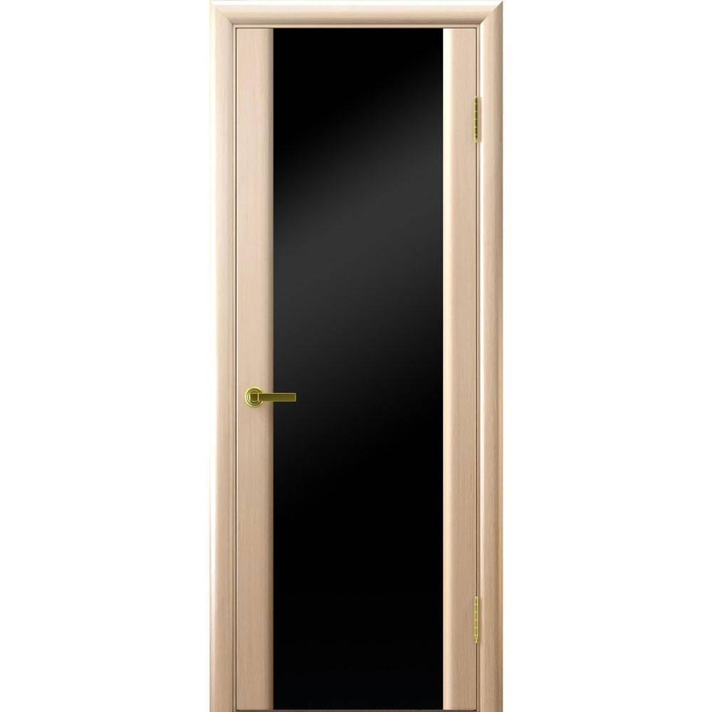 Ульяновские шпонированные двери Синай 3 белёный дуб с чёрным стеклом tehno-3-black-bel-dub-dvertsov-min.jpg