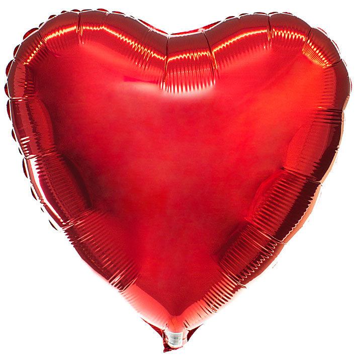 Шар Сердце красное 46 см