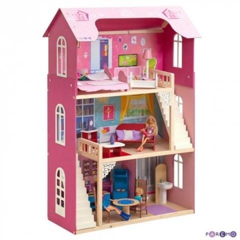 Кукольный домик Paremo Вдохновение для кукол до 30 см 16 предметов мебели 2 лестницы PD315