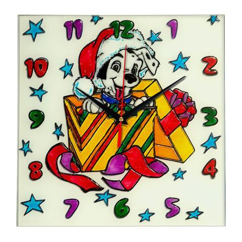 """Часы раскраска на стекле для детей """"Новогодний подарок ..."""