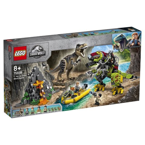 LEGO Jurassic World: Бой тираннозавра и робота-динозавра 75938 — T. rex vs Dino-Mech Battle — Лего Мир Юрского периода