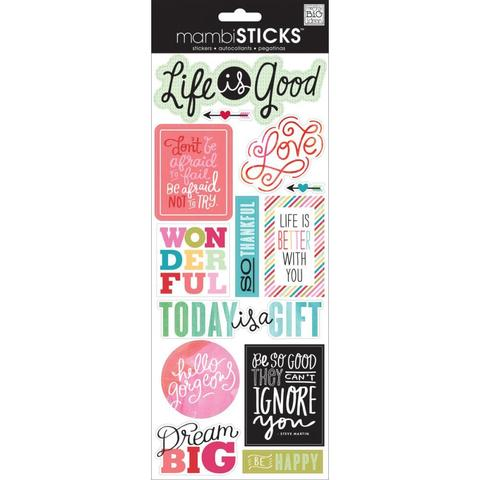 Стикеры  mambi Specialty Stickers Life Is Good 13х30 см