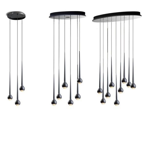 replica tobias grau falling waters 3 lamps silver. Black Bedroom Furniture Sets. Home Design Ideas
