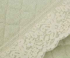Элитный коврик для ванной Валансье зеленый от Old Florence