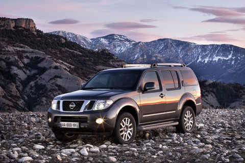 Защита фар для Nissan Pathfinder/Navara 2010-2014 прозрачная, 2 части, EGR (227210)