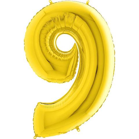 Цифра 9 (Золотая)