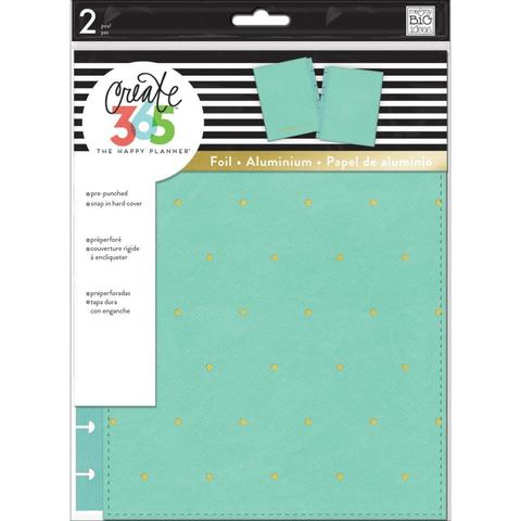 Обложка из экокожи для ежедневника Create 365 Classic Snap-In Hard Cover Planner - Turquoise W/Gold Dots