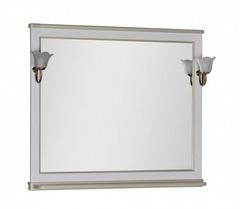 Зеркало Aquanet Валенса 110 белый краколет золото