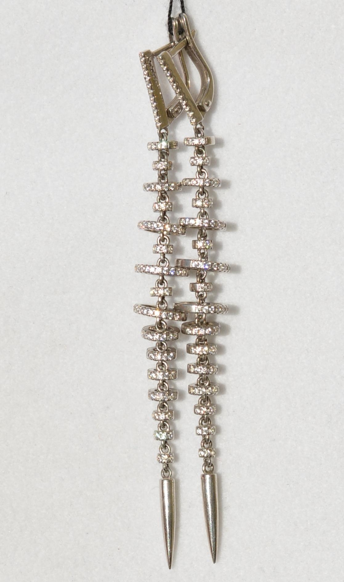 Юла  длинные( серьги из серебра)