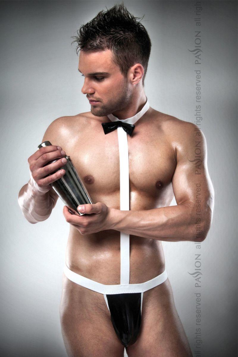 Мужское белье: Чёрно-белое боди официанта