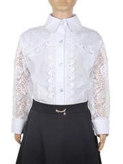 0347 блузка детская, белая