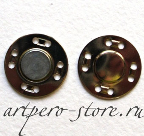Кнопка магнитная, пришивная, 2 см., (выберите цвет)