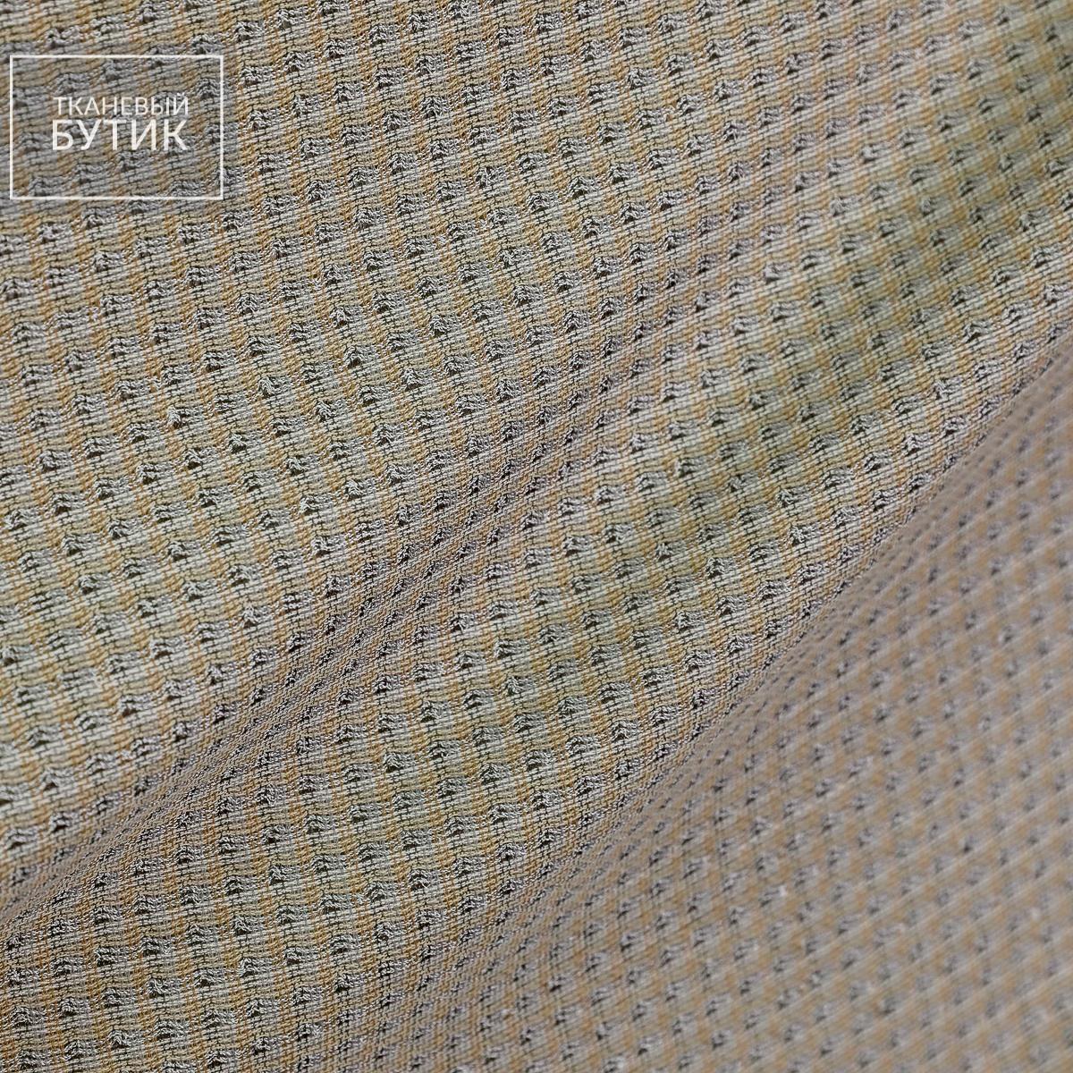 Серо-бронзовый лен с вискозой и шелком