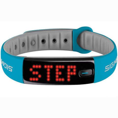 Купить Фитнес-браслет Sigma Sport Activo 22911 (Sky-Blue) по доступной цене