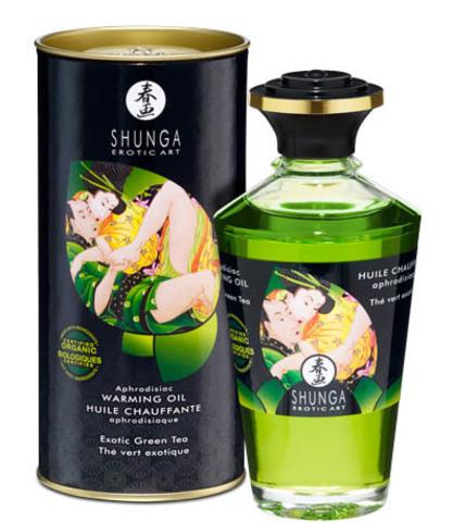 Съедобное массажное масло SHUNGA Exotic Green Tea (с согревающим эффектом) (100 мл)
