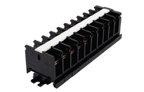 Блок зажимов наборный БЗН 40А на DIN-рейку 10 пар TDM