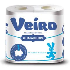Бумага туалетная Veiro Домашняя 2сл бел втор втул 15м 120л 4рул/уп 1c24