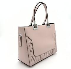 Классическая сумка пудрового с тремя отделами внутри