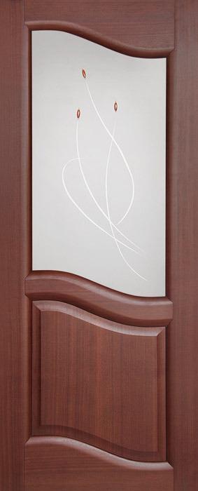 Дверь межкомнатная Россич,Парус ДО, Цвета: Анегри, Красное дерево