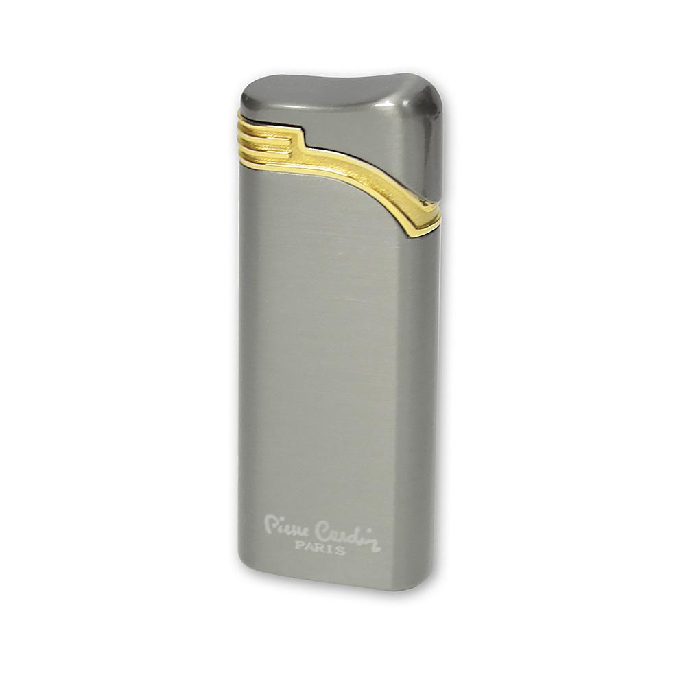 Зажигалка Pierre Cardin газовая турбо, цвет оружейный хром, 2,7x1x7,3см